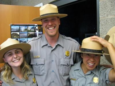 Ranger Victoria, Ranger Rob, Ranger Lauren -- Arches NP, 2010